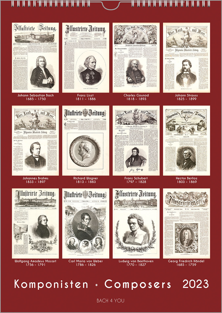 Composers wall calendars find 33 of them here 2019 2020 we are not as fast as amazon plus we dont deliver by drones and the value priced calendars is what you get real quick however again not with drones solutioingenieria Image collections